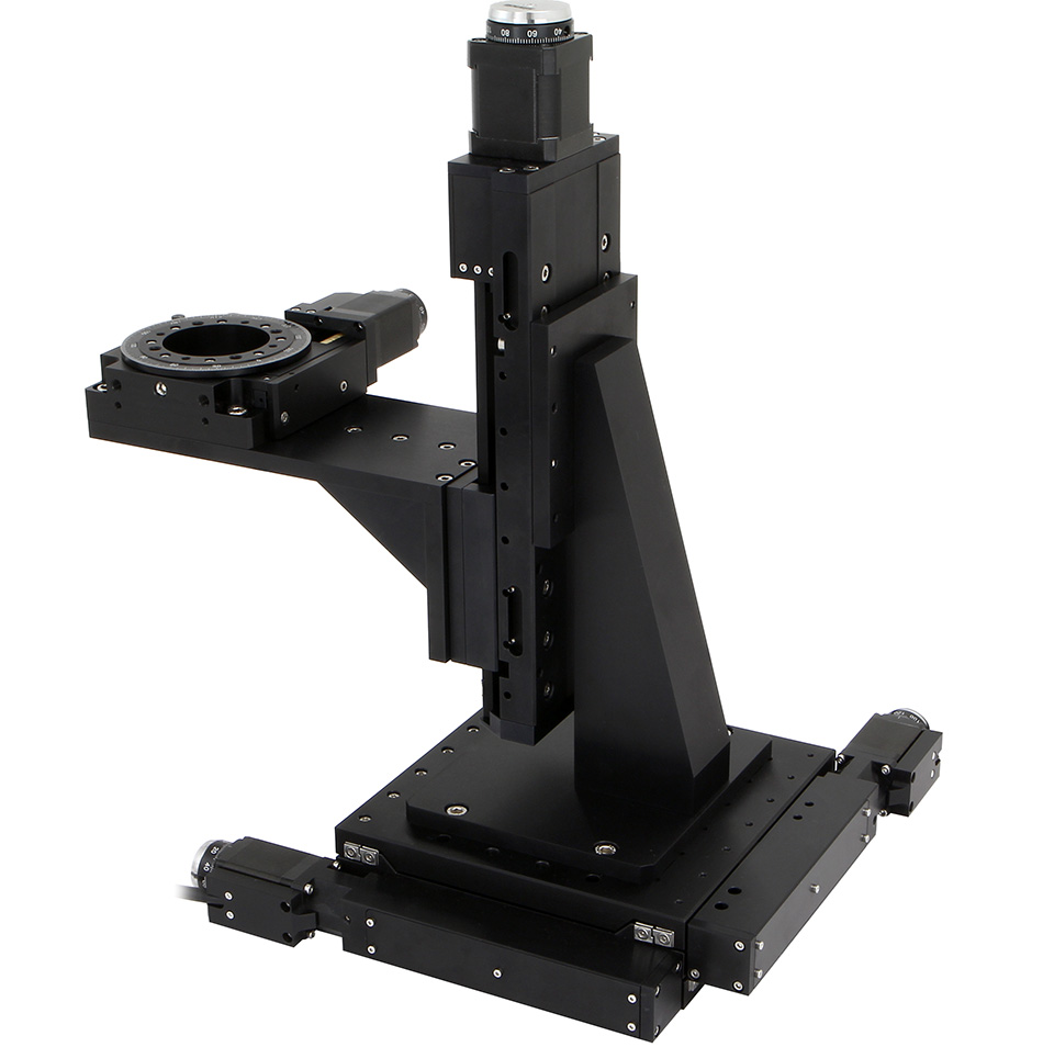 Motorized xyz stage rotation table positioning system Motorized table