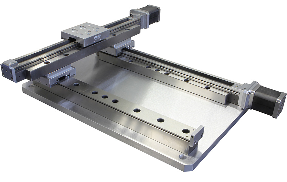 vacuum compatible motorized xy linear translation stage