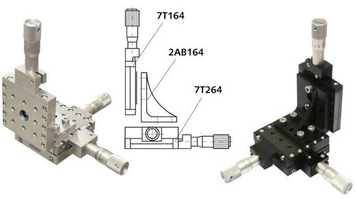 Angle bracket 2AB164 in XYZ configurations