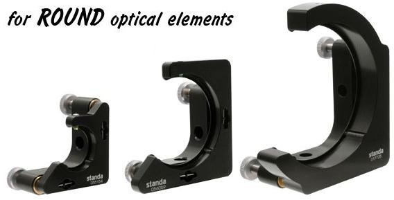 Mirror mounts for round optics