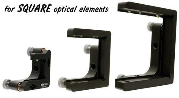Mirror mounts for square optics