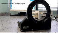 Standa Motorized Iris Diaphragm - Full operation range
