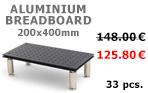 200x400mm Aluminium Breadboard 1BAL-2040-015 - 125.80